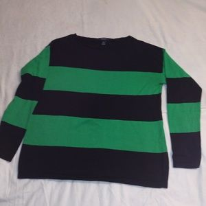 Women's pull over Sweater blous Chaps L Navy/Green
